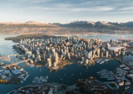 Vancouver & snowcapped North Shore Mountains